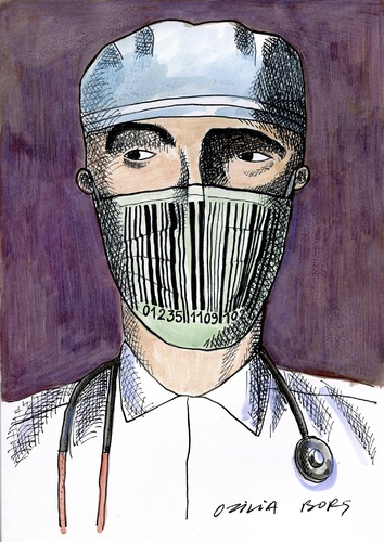 Cartoon: Doctors and patients 02 (medium) by Otilia Bors tagged otilia,bors