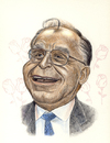 Cartoon: Ion Iliescu expresident (small) by Otilia Bors tagged ion,iliescu
