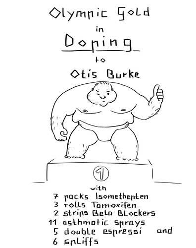 Cartoon: doping goes olympic (medium) by Bonville tagged doping,olympia,olympic,gold,solution,problem