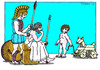 Cartoon: Achilles and Odysseus (small) by srba tagged greek,mythology,trojan,horse,war