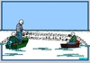 Cartoon: AN DER SCHÖNEN BLAUEN DONAU (small) by srba tagged danube music waltz fishing