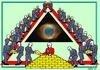 Cartoon: Cosmic Cirkle (small) by srba tagged cosmos,cirkle,triangle,bricks,god,eye,creation,discreation