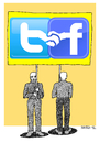 Cartoon: Social Networks (small) by srba tagged social,network,twitter,facebook,icons