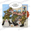 Cartoon: Salutieren (small) by irlcartoons tagged truppe,armee,feldwebel,weicheier,salutieren,militär,frau,feministin,humor,cartoon