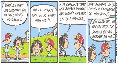 Cartoon: miss chipchase !.. (medium) by noodles cartoons tagged teachers,school,coco,sunny