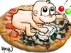 Cartoon: pizza (small) by coskungole58 tagged pizza