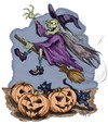 Cartoon: Happy Halloween (small) by thopman tagged halloween,scary,pumpkin,witch,ghost,house,haunted
