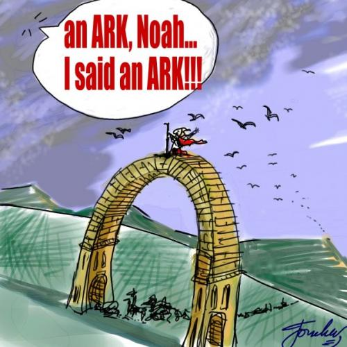 Cartoon: Noah.s Ark... the Beginning (medium) by Bravemaina tagged noah,ark,