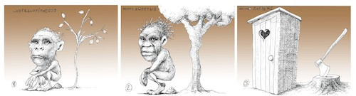 Cartoon: Save the trees (medium) by Hugo_Nemet tagged planet,trees,humans