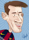 Cartoon: Messi (small) by ELPEYSI tagged leo liomessi messi 10 barca pulga argentina