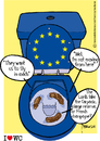 Cartoon: Talks shit MEP (small) by marcosymolduras tagged european government parliament meps