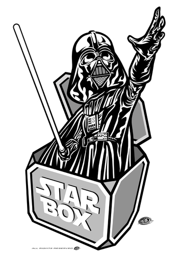 Cartoon: Darth in the Box (medium) by elle62 tagged scifi,trooper,fanart,wars,star