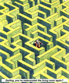 Cartoon: Coexistence! (small) by llumetis tagged problems,couple,separation,labyrinth