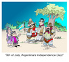 Cartoon: 9 de Julio (small) by LAINO tagged argentina,independence,day