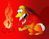 Cartoon: Fire!!! (small) by LAINO tagged fire,stone,age