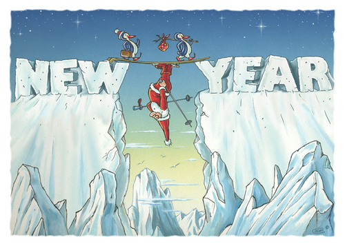 Cartoon: Olympic Winter (medium) by Stan Groenland tagged new,year,winter,santa,christmas,greeting,cards,olympic,sports