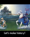 Cartoon: Make History! (small) by Stan Groenland tagged cartoon,athletics,history,knights,castle,heroesolympics,champions