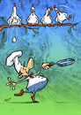 Cartoon: Surprise (small) by Stan Groenland tagged cartoon,eggs,pancakes,cook,culinary,chickens,dinner