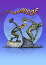 Cartoon: The Myron Case. (small) by Stan Groenland tagged cartoon,myron,discus,thrower,sports,sculptures,history,greek,art,olympics