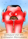 Cartoon: Erdowahn (small) by besscartoon tagged tourismus,buchen,urmonument,erdowahn,recep,tayyip,erdogan,verhaftungen,terrorismusverdacht,politik,diktatur,türkei,bess,besscartoon