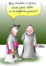 Cartoon: K O N  Dom (small) by besscartoon tagged religion,kirche,christentum,pfarrer,katholisch,kondom,verhütung,ethik,bess,besscartoon,gott