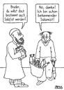 Cartoon: Salamist (small) by besscartoon tagged islam,salafismus,salafist,ultrakonservativ,koran,religion,salami,salamist,wurst,bess,besscartoon