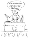 Cartoon: Werbeunterbrechung (small) by besscartoon tagged kirche,religion,katholisch,pfarrer,gottesdienst,werbung,bess,besscartoon