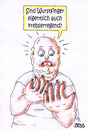 Cartoon: Wurstfinger (small) by besscartoon tagged wurstfinger,wurst,krebserregend,fleischkonsum,krebs,fleischessen,gesundheit,ernährung,bess,besscartoon