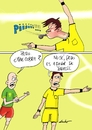Cartoon: brazil referee (small) by lucholuna tagged brasil2014,brasil,neymar,foul