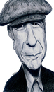 Cartoon: Leonard Cohen (small) by Eno tagged leonard,cohen,musician,singer
