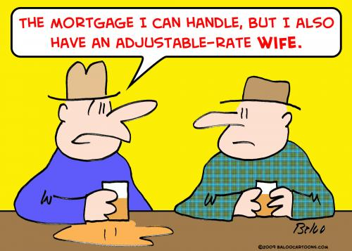 Cartoon: adjustable rate marriage wife (medium) by rmay tagged adjustable,rate,marriage,wife