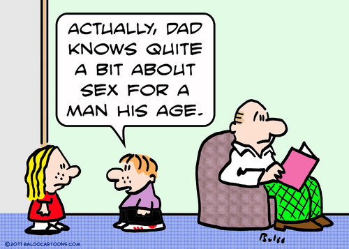 Cartoon: dad sex man knows his age (medium) by rmay tagged dad,man,knows,his,age