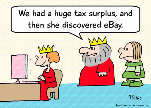 Cartoon: discovered ebay king queen budge (medium) by rmay tagged discovered,ebay,king,queen,budge