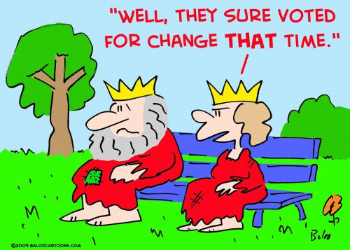 Cartoon: king queen voted change (medium) by rmay tagged king,queen,voted,change
