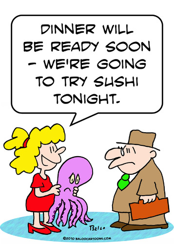 Cartoon: sushi tonight try (medium) by rmay tagged sushi,tonight,try