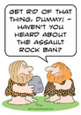 Cartoon: assault rock ban cavemen caveman (small) by rmay tagged assault,rock,ban,cavemen,caveman