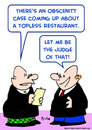 Cartoon: be judge of that topless (small) by rmay tagged be,judge,of,that,topless