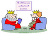 Cartoon: bless god undisclosed location (small) by rmay tagged bless,god,undisclosed,location,king,queen