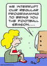 Cartoon: bring you football season tv (small) by rmay tagged bring,you,football,season,tv
