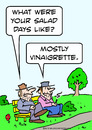 Cartoon: bums salad days vinaigrette (small) by rmay tagged bums,salad,days,vinaigrette