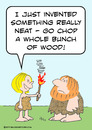 Cartoon: bunch wood invent fire caveman (small) by rmay tagged bunch,wood,invent,fire,caveman