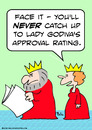 Cartoon: catch lady godiva king quee (small) by rmay tagged catch,lady,godiva,king,quee