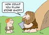 Cartoon: caveman report card flunk stone (small) by rmay tagged caveman,report,card,flunk,stone
