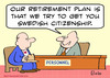 Cartoon: citizenship swedish retirement (small) by rmay tagged citizenship,swedish,retirement