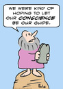 Cartoon: conscience guide moses (small) by rmay tagged conscience,guide,moses