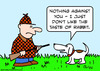 Cartoon: dog hunter taste rabbit (small) by rmay tagged dog,hunter,taste,rabbit
