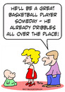 Cartoon: dribbles baby basketball player (small) by rmay tagged dribbles,baby,basketball,player