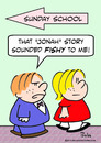 Cartoon: fishy jonah story sunday school (small) by rmay tagged fishy,jonah,story,sunday,school