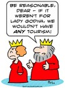 Cartoon: godiva lady king queen tourism (small) by rmay tagged godiva,lady,king,queen,tourism