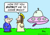 Cartoon: jesus flying saucer (small) by rmay tagged jesus,flying,saucer